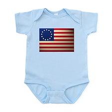 Betsy Ross American Flag Infant Bodysuit