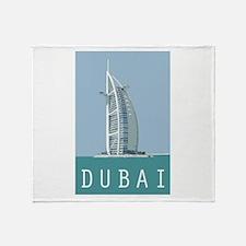 Dubai Burj Al Arab Throw Blanket