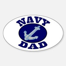 Navy Dad Oval Decal