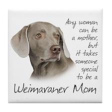 Weimaraner Mom Tile Coaster