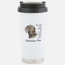 Weimaraner Mom Stainless Steel Travel Mug