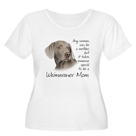 Weimaraner Mom Women's Plus Size Scoop Neck T-Shir