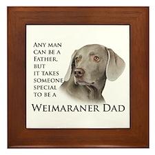 Weimaraner Dad Framed Tile