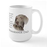 Weimaraner Large Mugs (15 oz)