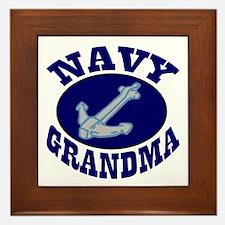 Navy Grandma Framed Tile