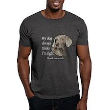 Weimaraner v Wife T-Shirt