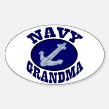 Navy Grandma Oval Decal