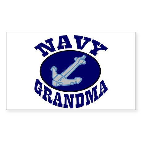 Navy Grandma Rectangle Sticker