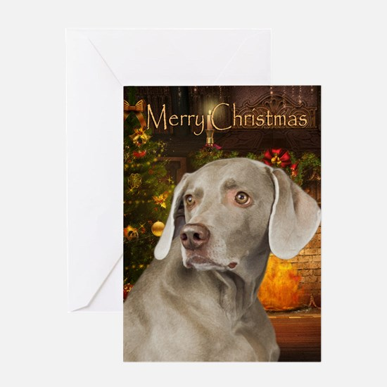 Weimaraner Holiday Card