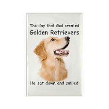 Golden Retriever Rectangle Magnet