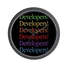Developers (black) Wall Clock