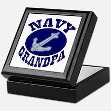 Navy Grandpa Keepsake Box