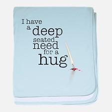 Need for a hug baby blanket
