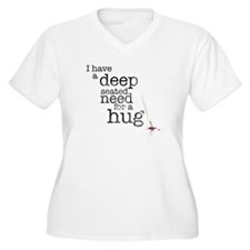 Need for a hug Women's Plus Size V-Neck T-Shirt