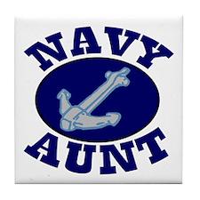Navy Aunt Tile Coaster