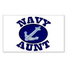 Navy Aunt Rectangle Decal