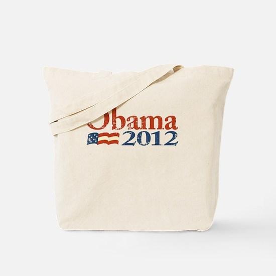 Obama 2012 - Faded/Distressed Logo Tote Bag