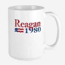 Reagan 1980 - Distressed Large Mug