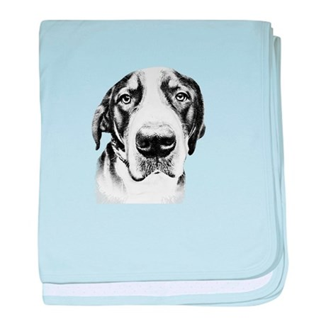 SWISS MOUNTAIN DOG - baby blanket