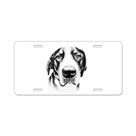 SWISS MOUNTAIN DOG - Aluminum License Plate