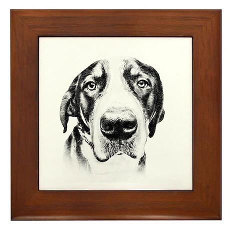 SWISS MOUNTAIN DOG - Framed Tile