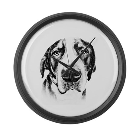 SWISS MOUNTAIN DOG - Large Wall Clock