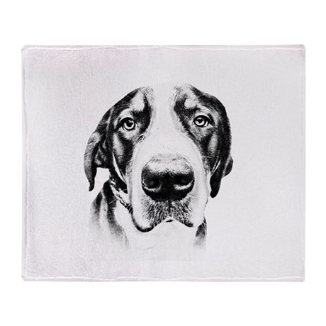 SWISS MOUNTAIN DOG - Throw Blanket