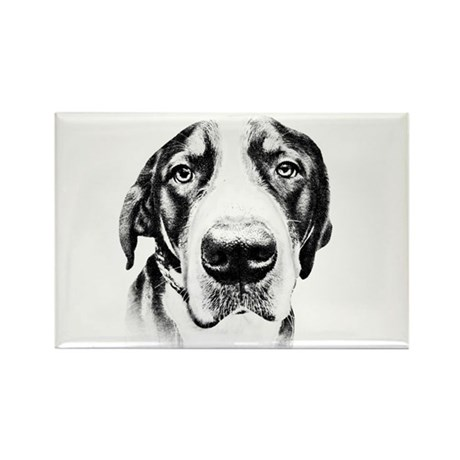 SWISS MOUNTAIN DOG - Rectangle Magnet