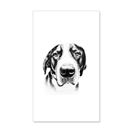 SWISS MOUNTAIN DOG - 38.5 x 24.5 Wall Peel