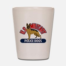 Military Police Dogs Shot Glass