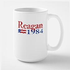 Reagan 1984 -Distressed Logo Large Mug