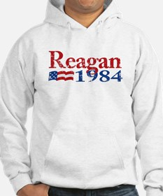 Reagan 1984 -Distressed Logo Jumper Hoody