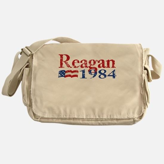 Reagan 1984 -Distressed Logo Messenger Bag