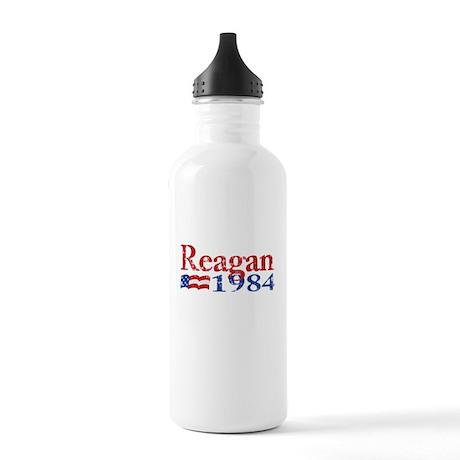 Reagan 1984 -Distressed Logo Stainless Water Bottl