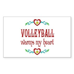 Volleyball Warms My Heart Decal