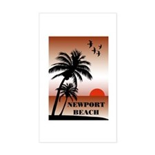 Newport Beach Sunset Rectangle Decal