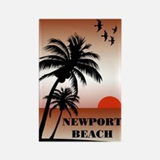 Newport Beach Sunset Rectangle Magnet