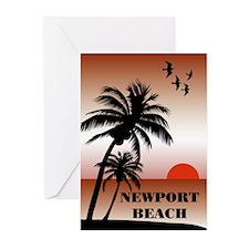 Newport Beach Sunset Greeting Cards (Pk of 10)