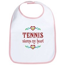 Tennis Warms My Heart Bib
