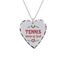 Tennis Warms My Heart Necklace
