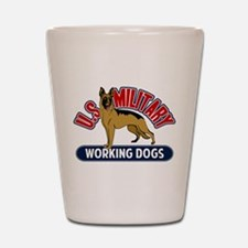 Military Working Dogs Shot Glass