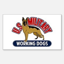 Military Working Dogs Sticker (Rectangle)