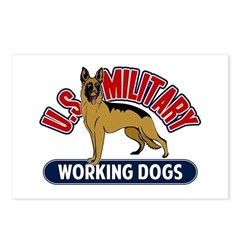 Military Working Dogs Postcards (Package of 8)
