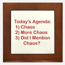 Today's Agenda: Chaos Framed Tile
