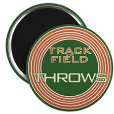 Track and Field Throws Magnet