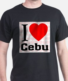 I Love Cebu Black T-Shirt