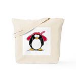 Red Hat penguin Tote Bag