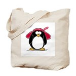 Red Hat penguin Tote Bag