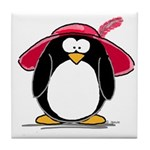 Red Hat penguin Tile Coaster