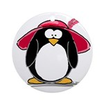 Red Hat penguin Ornament (Round)